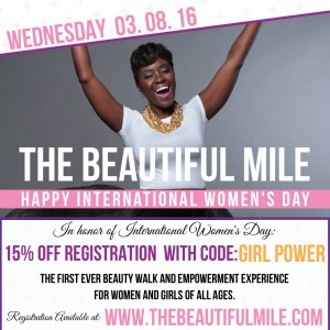 The Beautiful Mile walk on March 26th, 2016